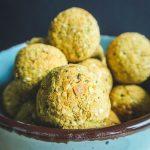 Baked falafel balls.